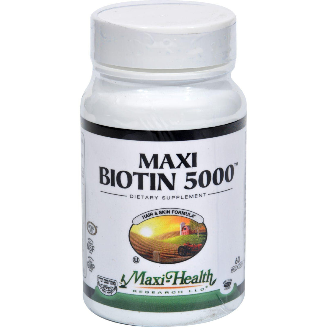 Mother Mantis: Maxi Health Kosher Vitamins Maxi Biotin 5000 - 60 Capsules Maxi Health Kosher Vitamins