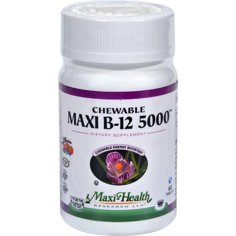 Maxi Health Kosher Vitamins Maxi B12 5000 - Chewable - 60 Tablets Maxi Health Kosher Vitamins