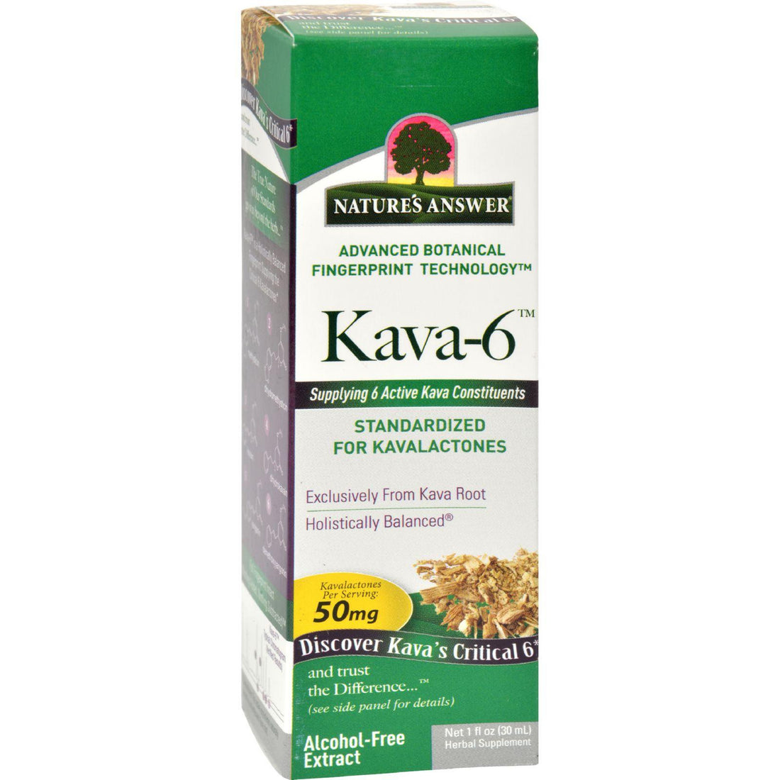Mother Mantis: Nature's Answer Kava 6 Extract - Alcohol Free - 1 Oz Nature's Answer