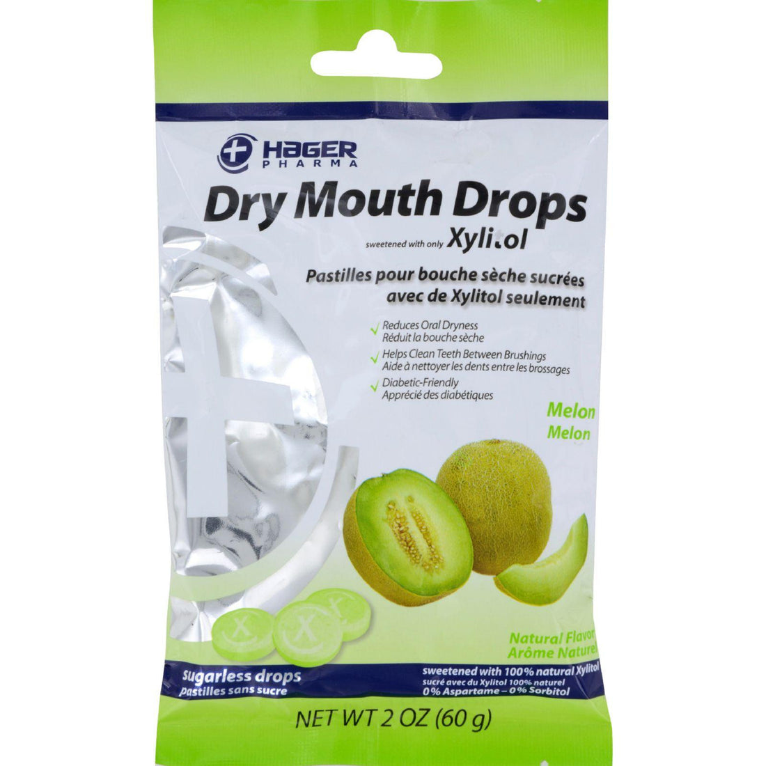 Mother Mantis: Hager Pharma Dry Mouth Drops - Melon - 2 Oz Hager Pharma
