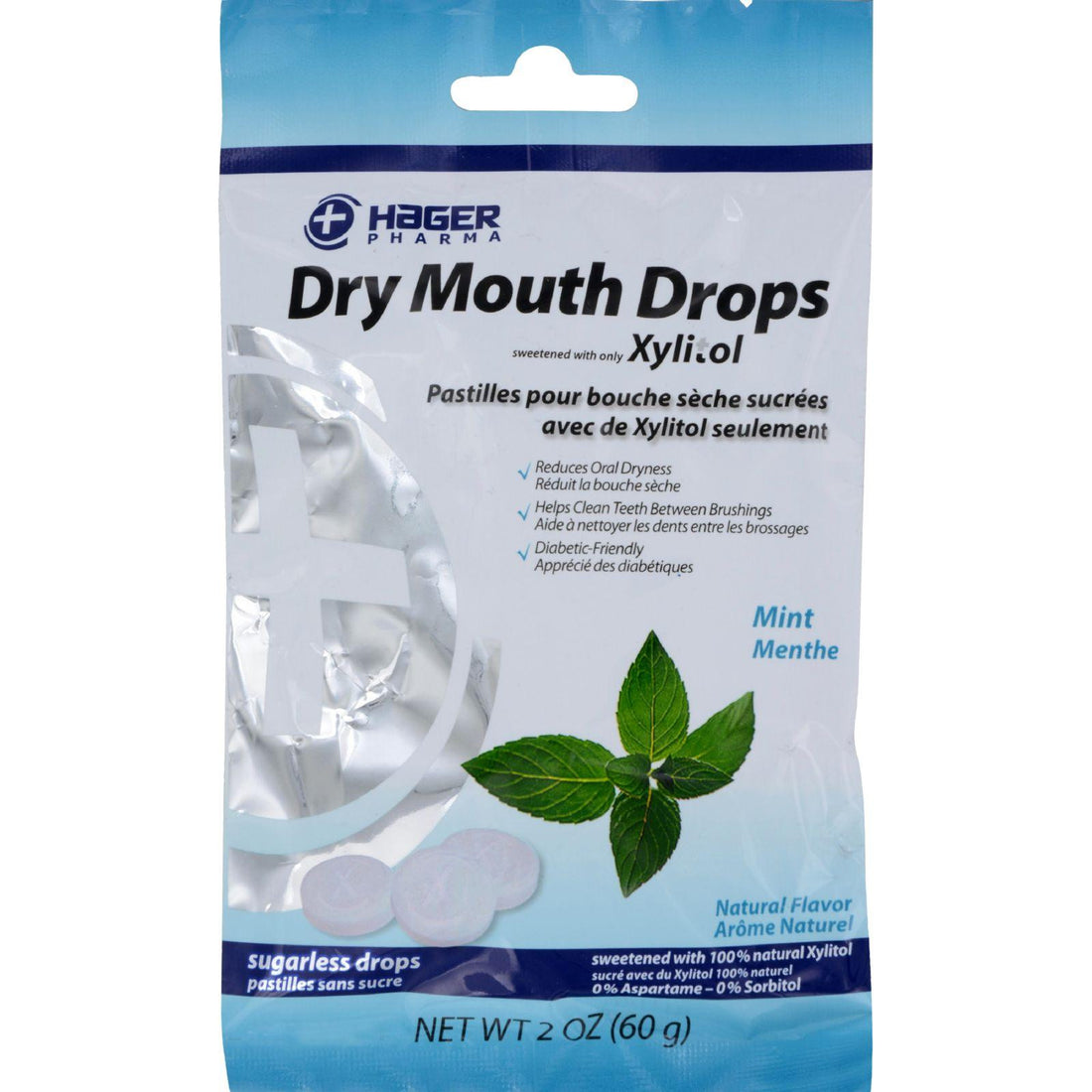 Mother Mantis: Hager Pharma Dry Mouth Drops - Mint - 2 Oz Hager Pharma
