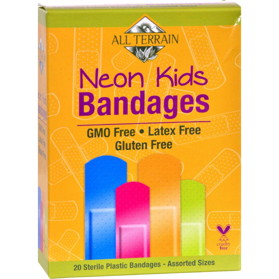 Mother Mantis: All Terrain Bandages - Neon Kids - Assorted - 20 Count All Terrain