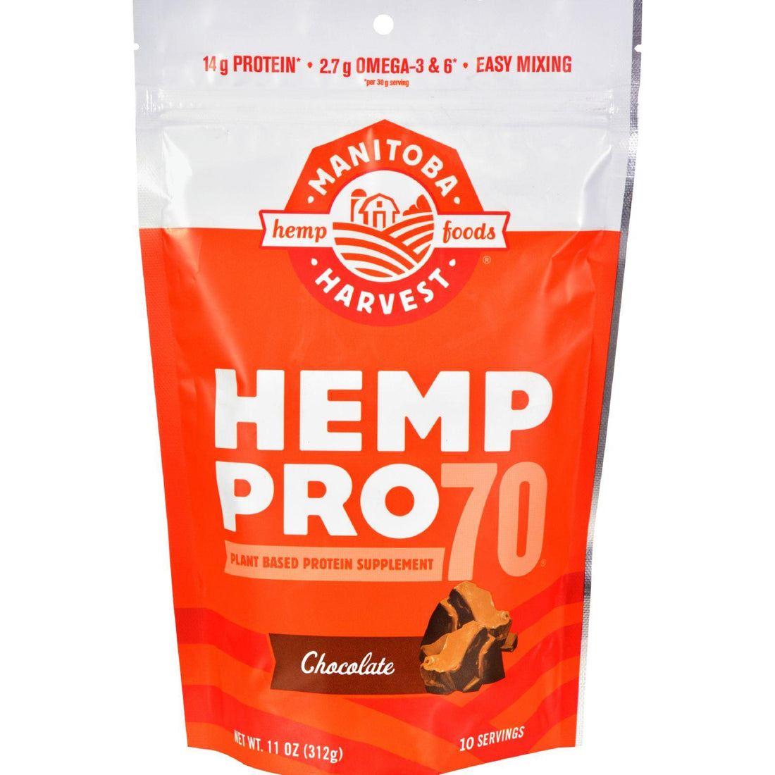 Mother Mantis: Manitoba Harvest Hemp Pro 70 - Chocolate - 11 Oz Manitoba Harvest