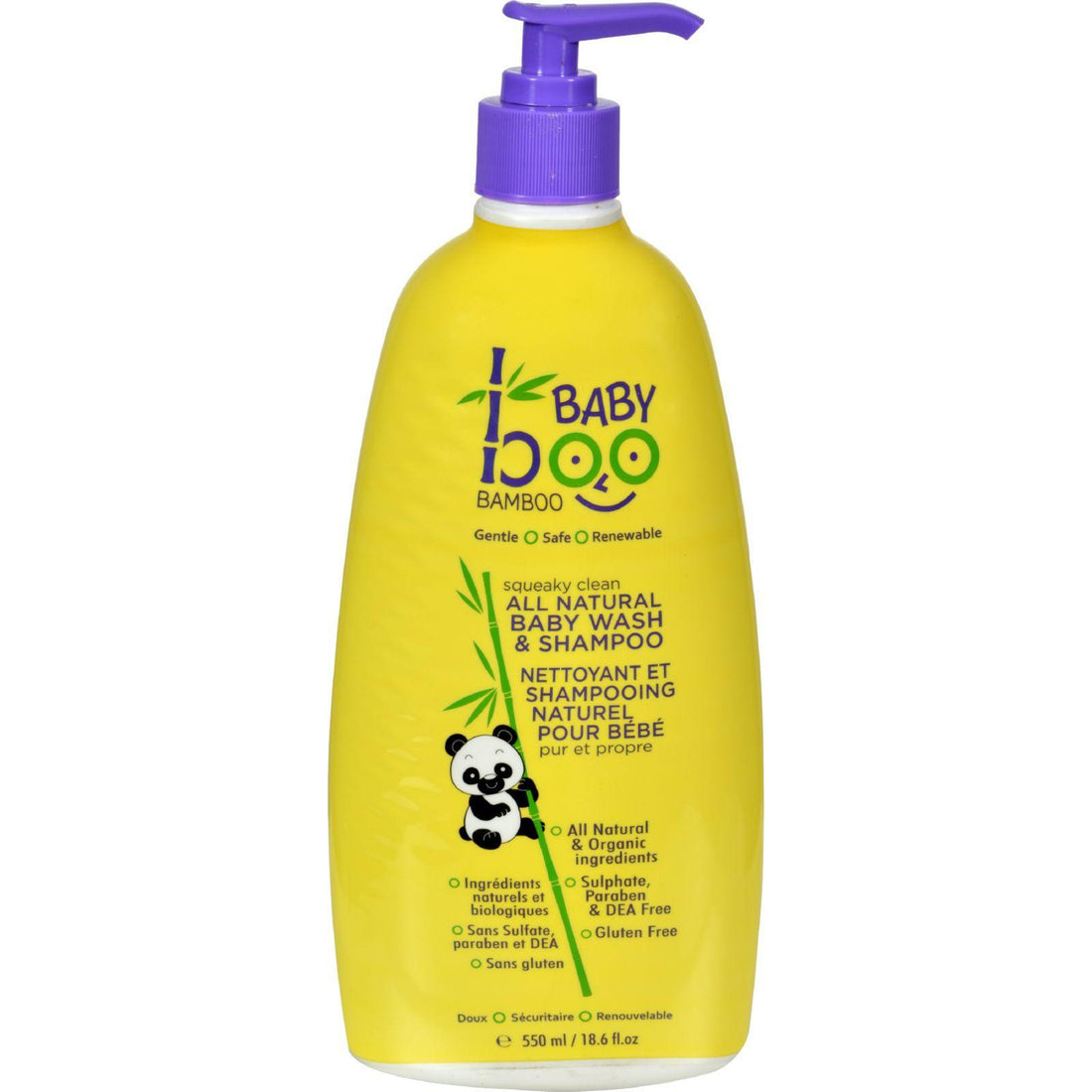 Mother Mantis: Boo Bamboo Baby Wash And Shampoo - Squeaky Clean - 18.6 Fl Oz Boo Bamboo