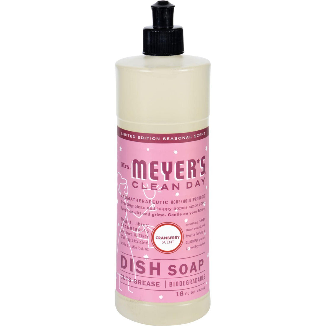 Mother Mantis: Mrs. Meyer's Liquid Dish Soap - Cranberry - Case Of 6 - 16 Oz Mrs. Meyer's
