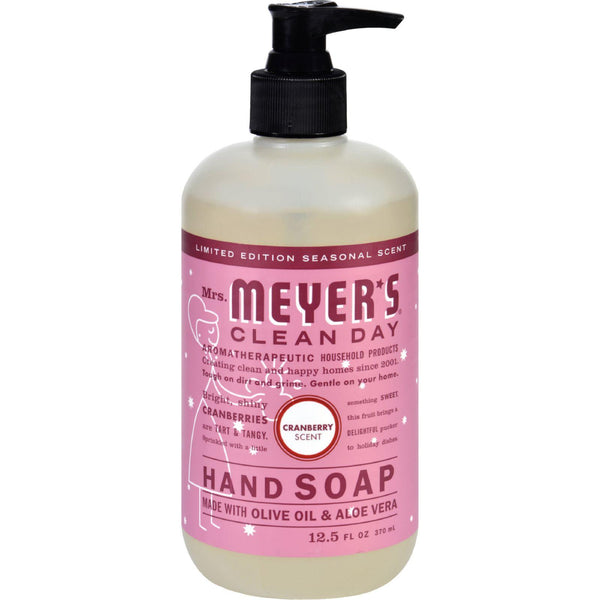 Mother Mantis: Mrs. Meyer's Liquid Hand Soap - Cranberry - Case Of 6 - 12.5 Oz Mrs. Meyer's