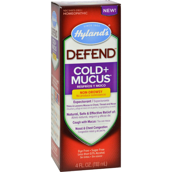 Mother Mantis: Hylands Homepathic Cold And Mucus - Defend - 4 Fl Oz Hyland's