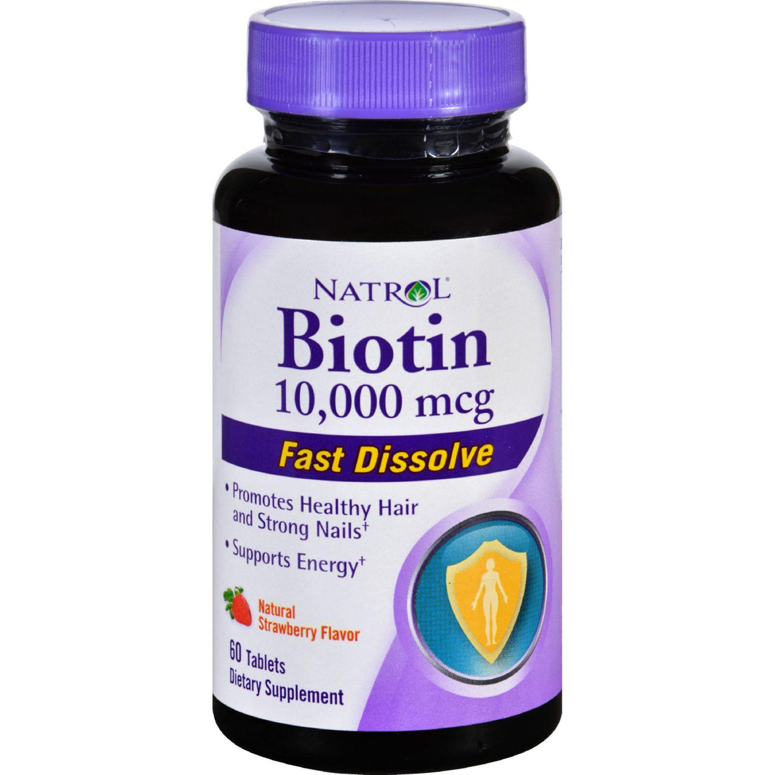 Mother Mantis: Natrol Biotin - Fast Dissolve - Strawberry - 10,000 Mcg - 60 Tablets Natrol