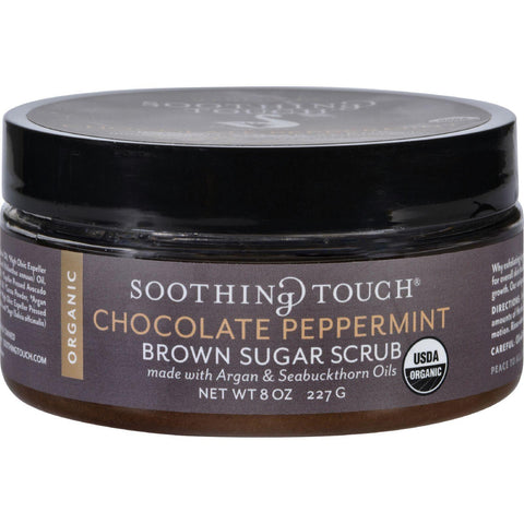 Soothing Touch Scrub - Organic - Sugar - Chocolate Peppermint Brown Sugar - 8 Oz Soothing Touch