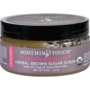 Soothing Touch Scrub - Organic - Sugar - Tuscan Bouquet - 8 Oz Soothing Touch