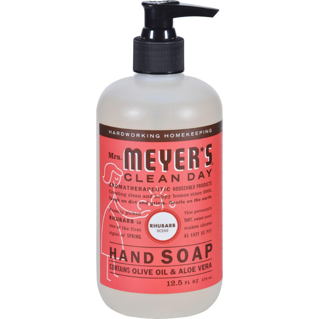 Mother Mantis: Mrs. Meyer's Liquid Hand Soap - Rhubarb- 12.5 Fl Oz Mrs. Meyer's