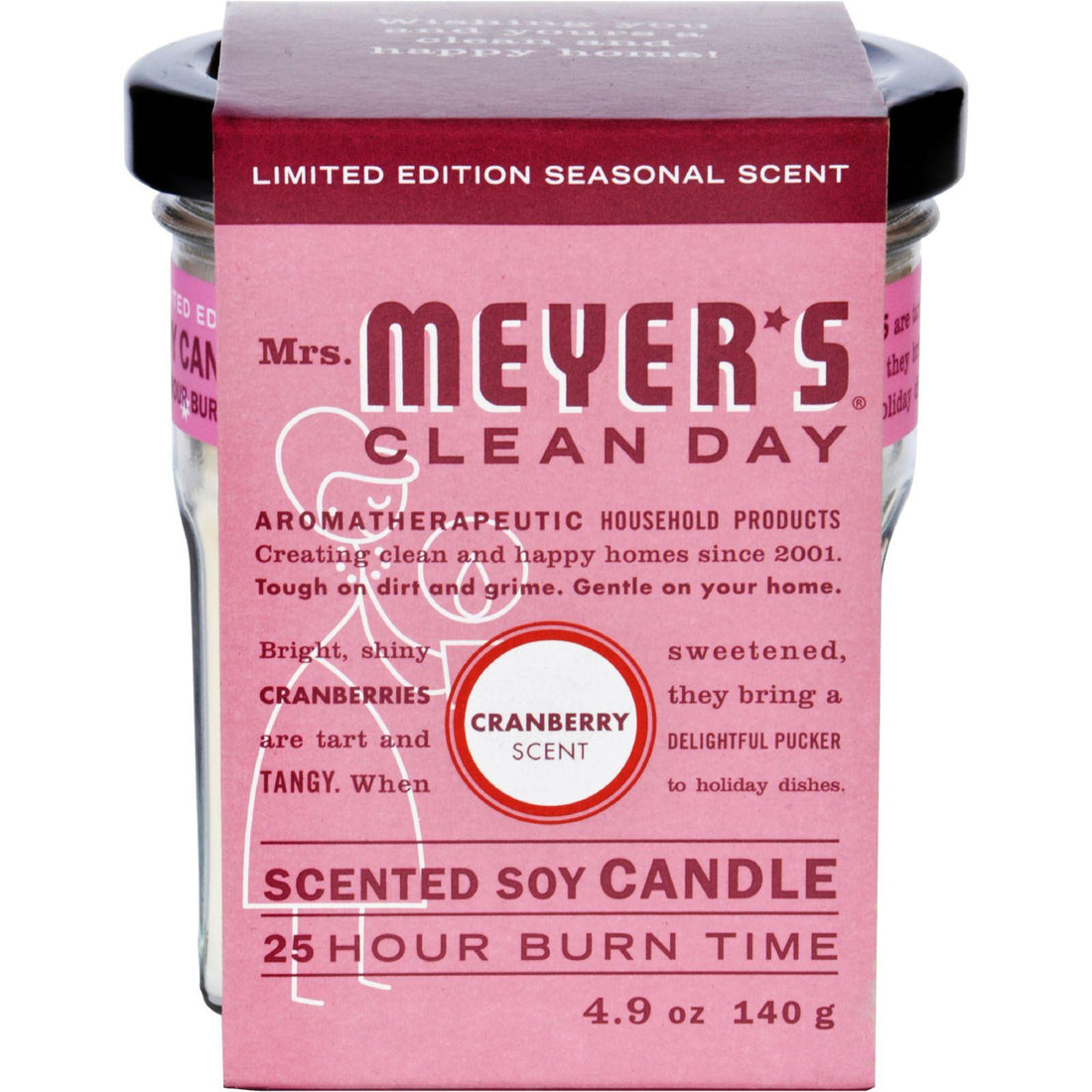 Mother Mantis: Mrs. Meyer's Soy Candle - Cranberry - 4.9 Oz Mrs. Meyer's