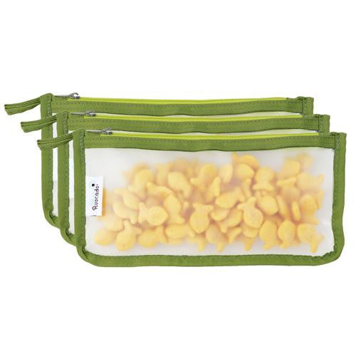 Mother Mantis: Blue Avocado Snack Zip Bag - Kiwi - 3 Pack Blue Avocado