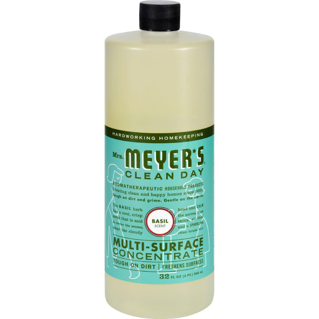 Mother Mantis: Mrs. Meyer's Multi Surface Concentrate - Basil - 32 Fl Oz - Case Of 6 Mrs. Meyer's