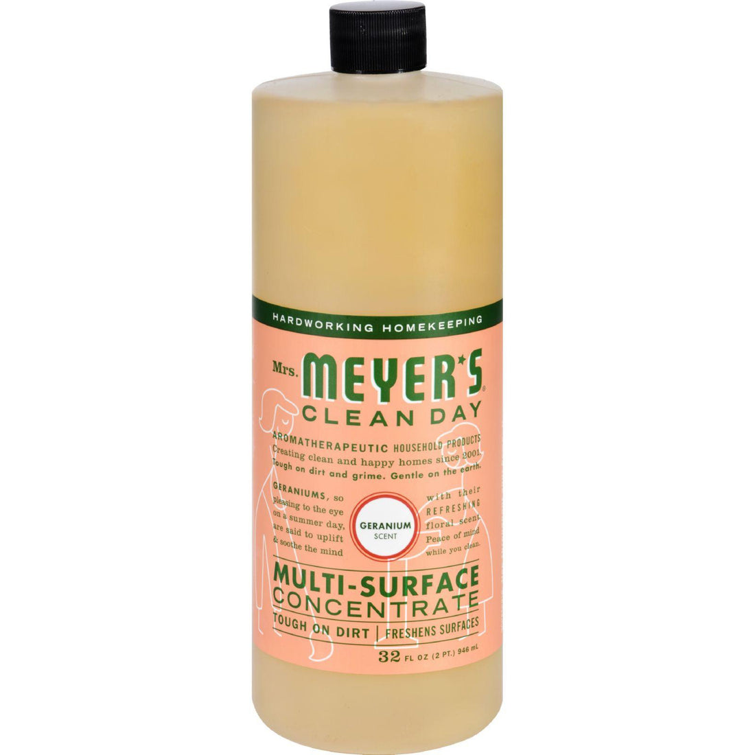 Mother Mantis: Mrs. Meyer's Multi Surface Concentrate - Geranium - 32 Fl Oz - Case Of 6 Mrs. Meyer's