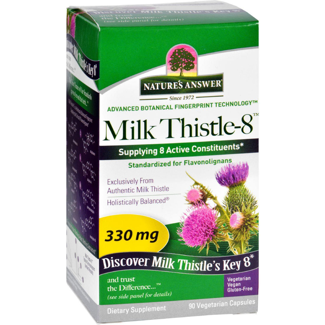 Mother Mantis: Nature's Answer Milk Thistle - Liquid Capsules - 330 Mg - 90 Veg Capsules Nature's Answer