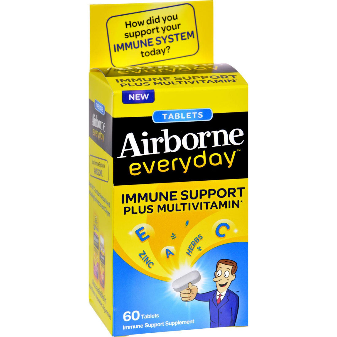 Mother Mantis: Airborne Everyday Multivitamin Tablets - 60 Tablets Airborne