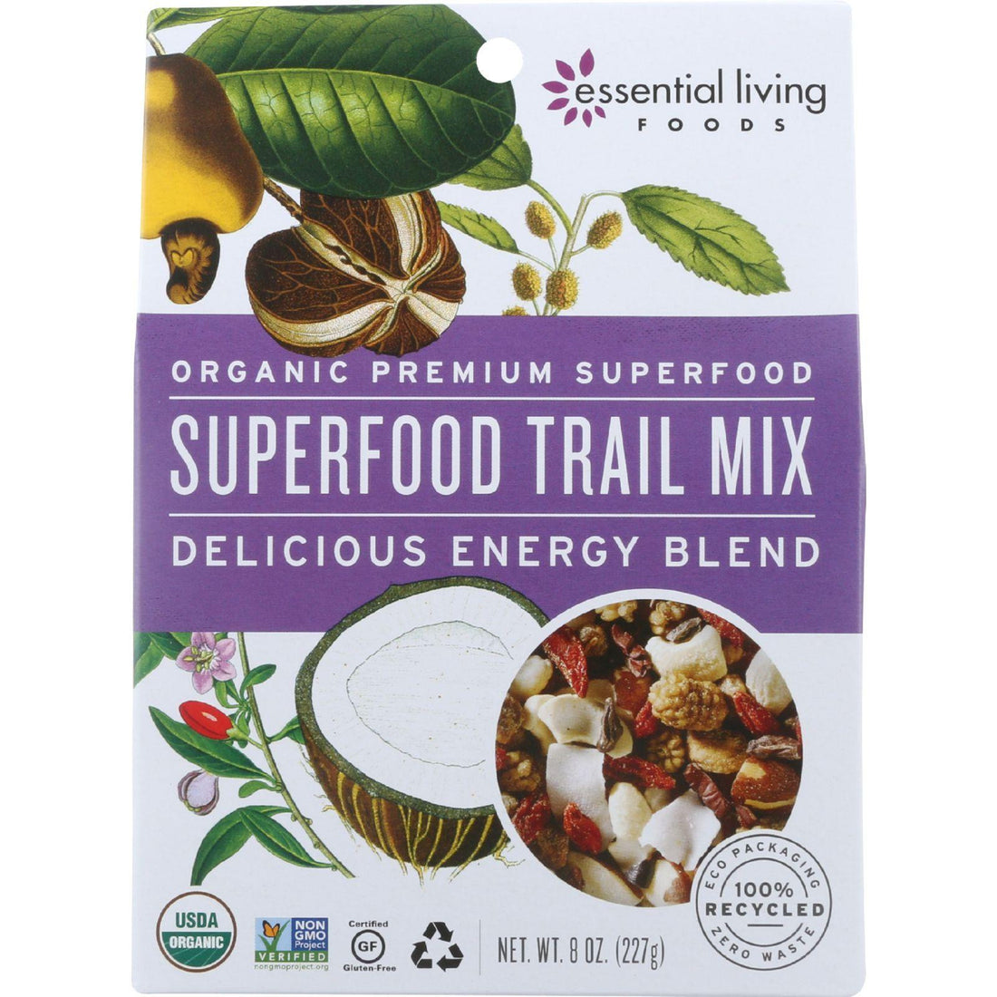 Mother Mantis: Essential Living Foods Trail Mix - Organic - Superfood Energy Blend - 8 Oz - Case Of 6 Essential Living Foods