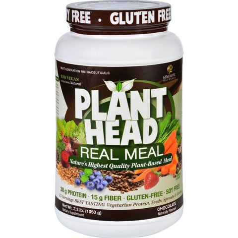 Genceutic Naturals Plant Head Real Meal - Chocolate - 2.3 Lb Genceutic Naturals