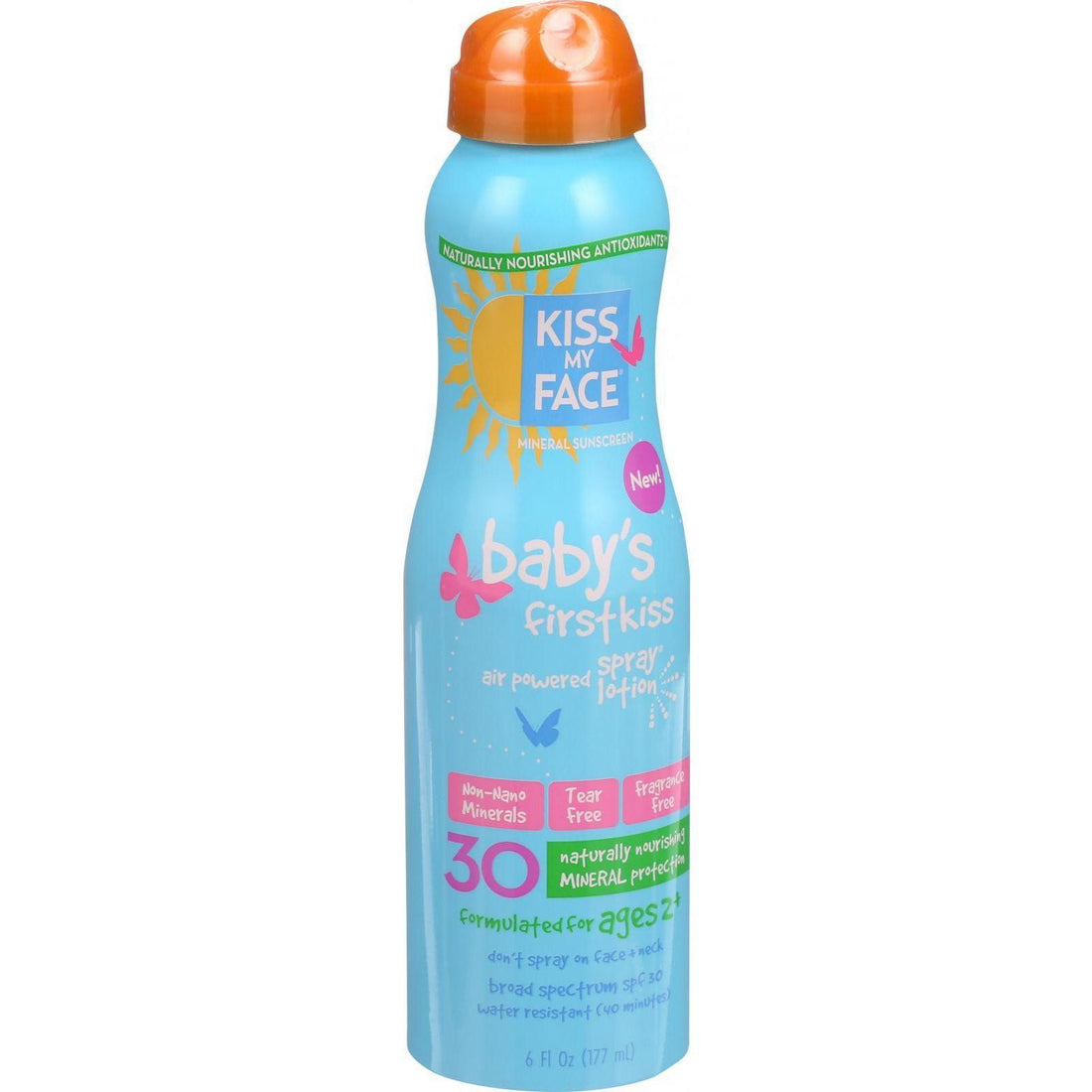Mother Mantis: Baby's Air Powered Spray Lotion;spf 30 Kiss My Face
