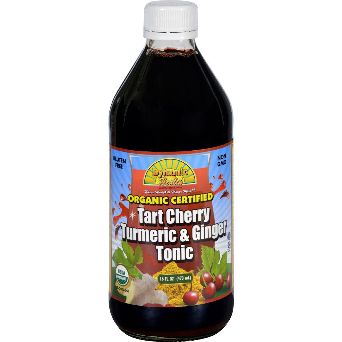 Mother Mantis: Dynamic Health Tonic - Tart Cherry Turmeric And Ginger - Organic Certified - 16 Oz Dynamic Health