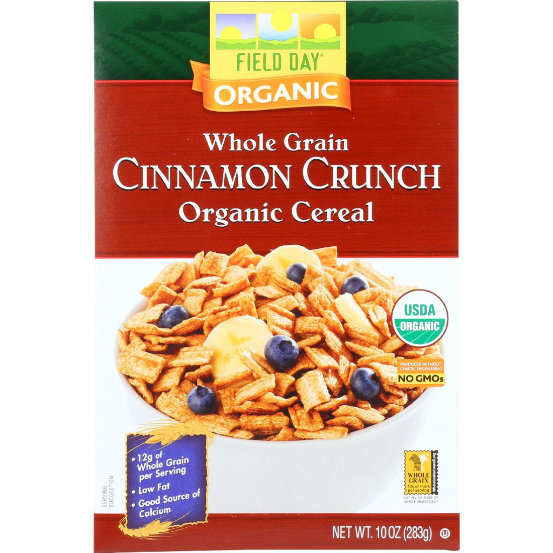 Mother Mantis: Field Day Cereal - Organic - Whole Grain - Cinnamon Crunch - 10 Oz - Case Of 12 Field Day