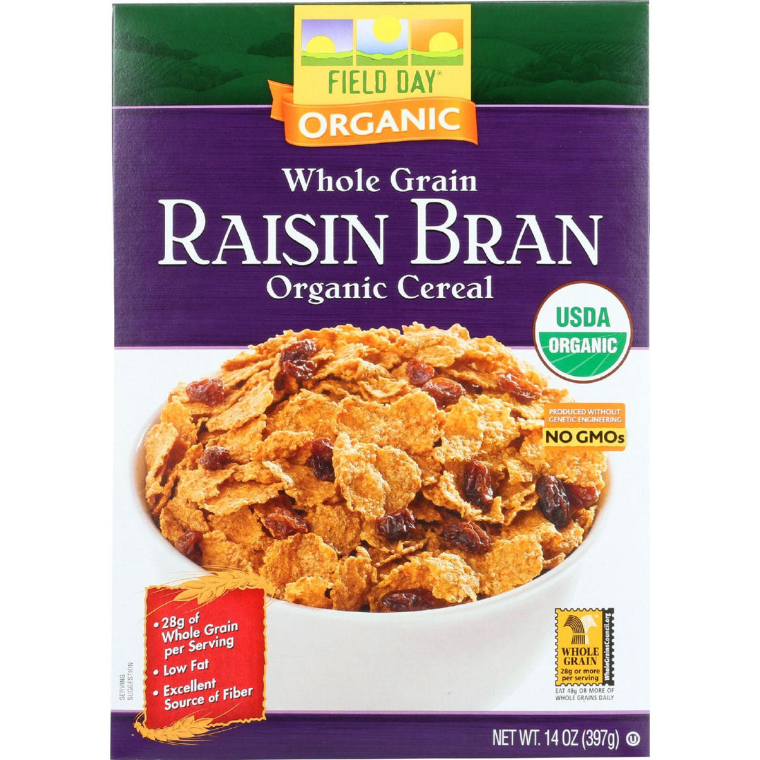 Mother Mantis: Field Day Cereal - Organic - Whole Grain - Raisin Bran - 14 Oz - Case Of 10 Field Day