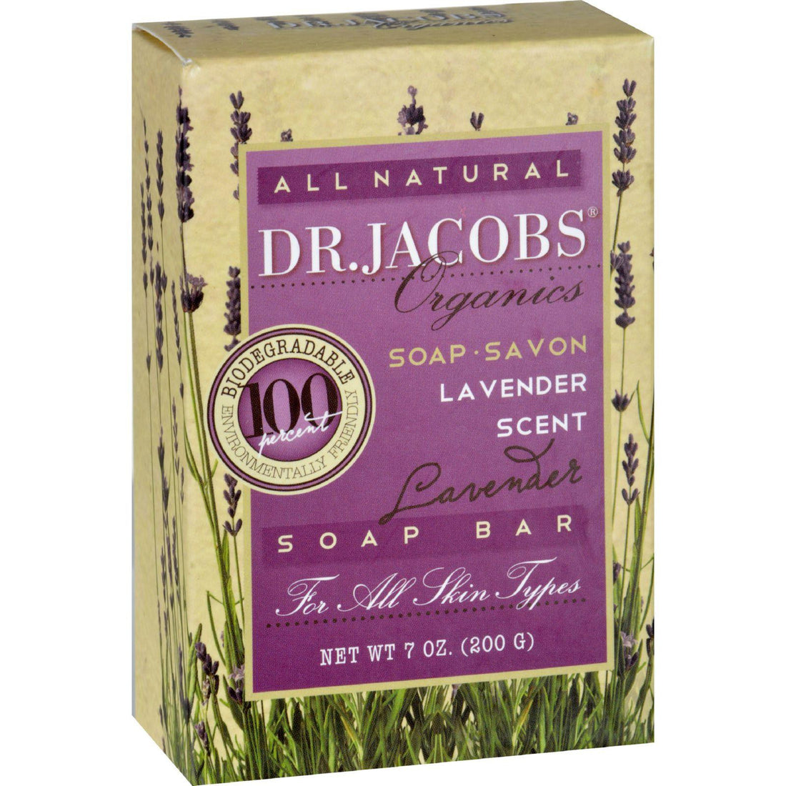 Mother Mantis: Dr. Jacobs Naturals Bar Soap - Castile - Lavender - 6.5 Oz Dr. Jacobs Naturals
