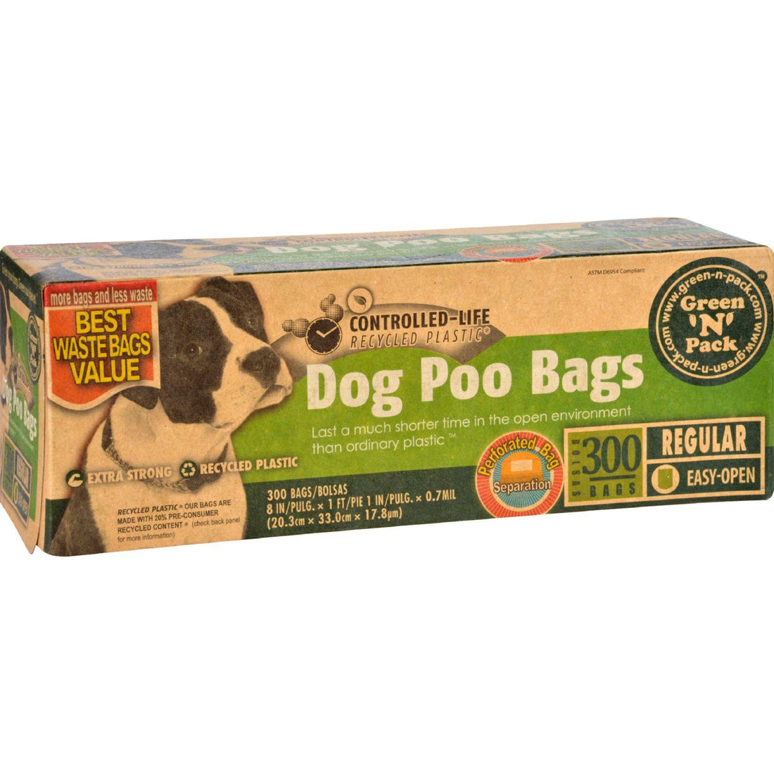 Mother Mantis: Eco-friendly Bags Green N Pack Dog Poo Bags - Litter Pick Up - 300 Bags - 1 Count Eco-friendly Bags