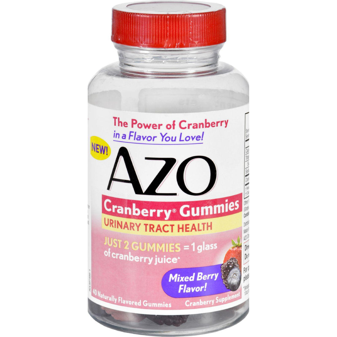 Mother Mantis: Azo Cranberry Gummies - 40 Count Azo