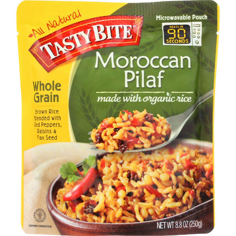 Tasty Bite Rice - Organic - Moroccan Pilaf - Whole Grain - 8.8 Oz - Case Of 6 Tasty Bite