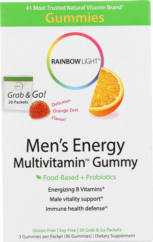 Rainbow Light Mens Multivitamin - Energy - Gummy - 30 Packets Rainbow Light