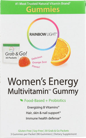 Rainbow Light Womens Multivitamin - Energy - Gummy - 30 Packets Rainbow Light
