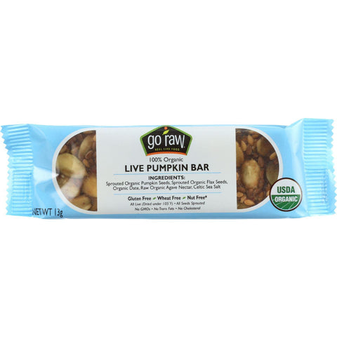 Go Raw Snack Bar - Organic - Sprouted - Pumpkin Seed  - .458 Oz - Case Of 10 Go Raw