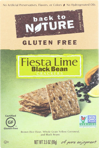 Back To Nature Fiesta Lime Black Bean - Case Of 12 - 3.5 Oz. Back To Nature