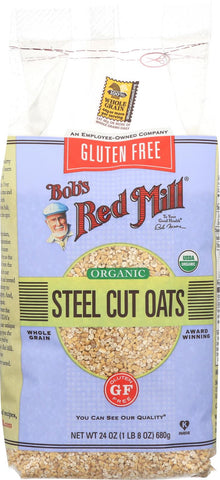 Bob's Red Mill Steel Cut Oats - Gluten Free - Case Of 4 - 24 Oz. Bob's Red Mill
