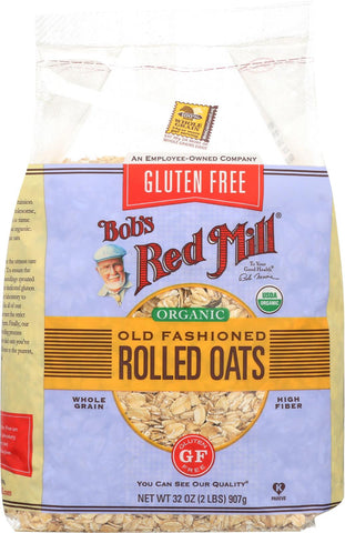 Bob's Red Mill Rolled Oats - Gluten Free - Case Of 4 - 32 Oz. Bob's Red Mill