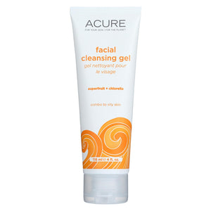 Acure Facial Cleansing Gel - Superfruit And Chlorella - 4 Fl Oz. Acure