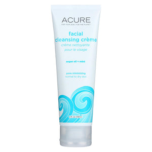 Acure Facial Cleansing Creme - Argan Oil And Mint - 4 Fl Oz. Acure