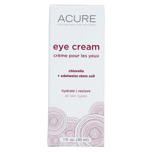 Acure Eye Cream - Chlorella And Edelweiss Stem Cell - 1 Fl Oz. Acure