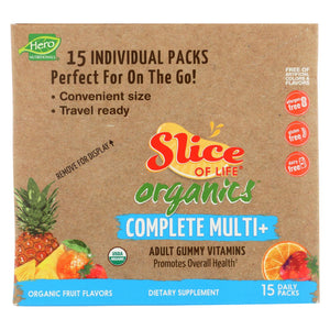 Slice Of Life Organics Multi-vitamin - Organic - Complet - 15 Count Slice Of Life Organics