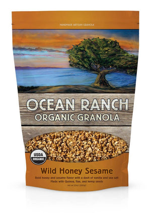 Ocean Ranch Organics Wild Honey Sesame Multi-Grain Organic Granola - Case of 6 Ocean Ranch Organics