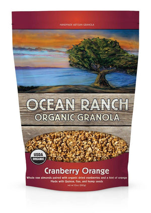Ocean Ranch Organics Cranberry Orange Multi-Grain Organic Granola - Case of 6 Ocean Ranch Organics