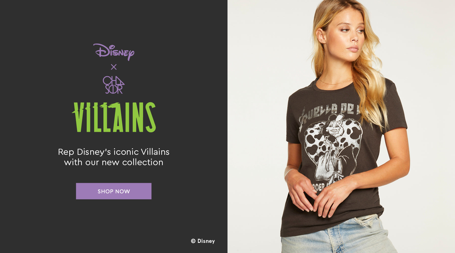 Celebrate Disney's baddest legends with this special Chaser capsule. Shop the Disney Villains collection.