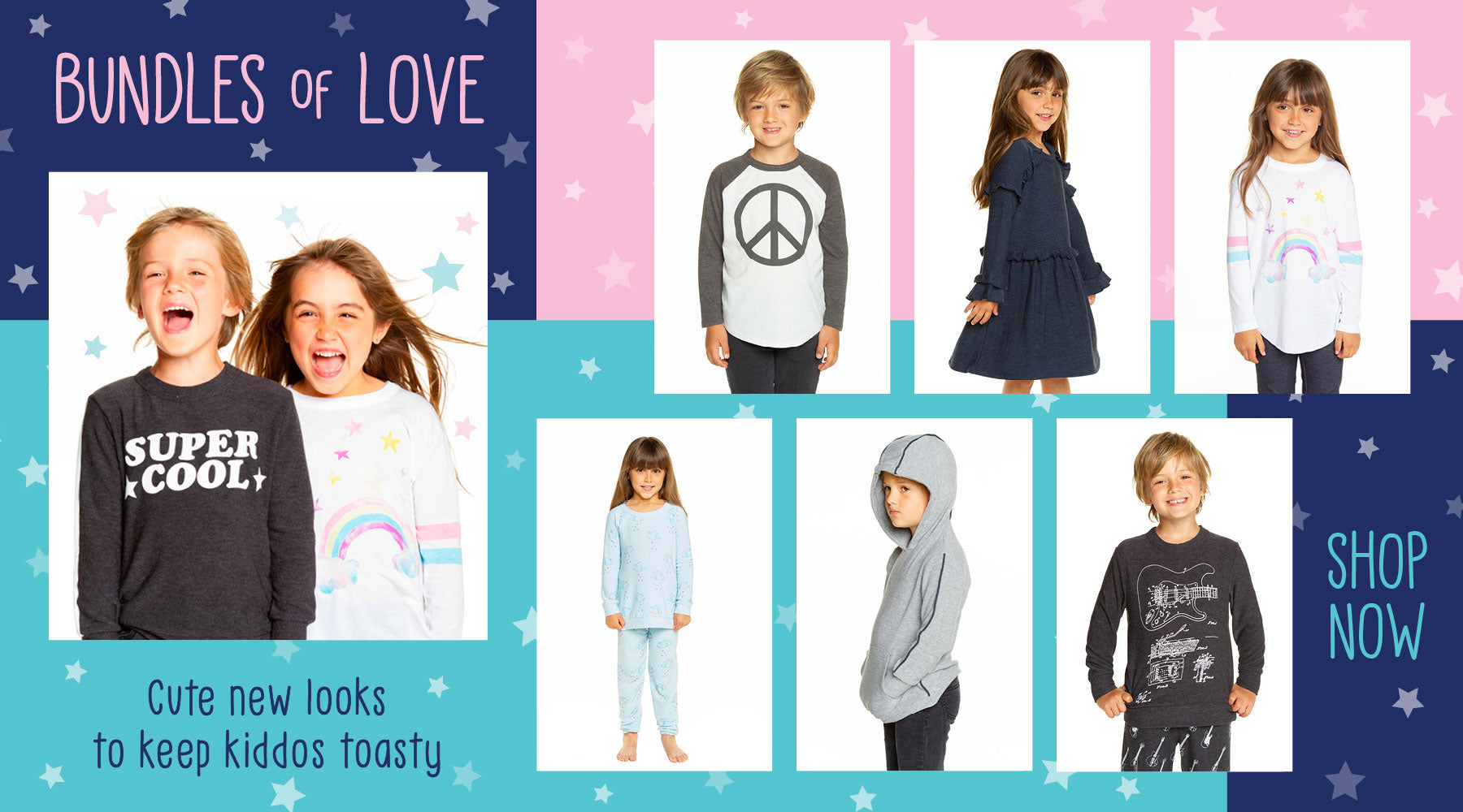 Cool kids deserve cool clothes. Shop what's new & cozy in Chaser Kids.