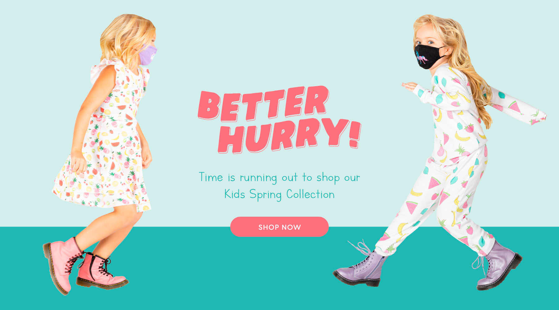Scoop up the kids' collection for spring while it lasts. Browse new arrivals now!