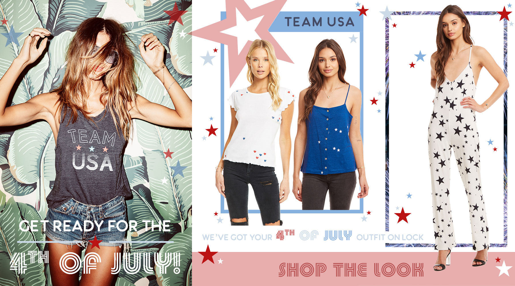 Team USA! We've got your 4th of July outfit on lock at Chaser