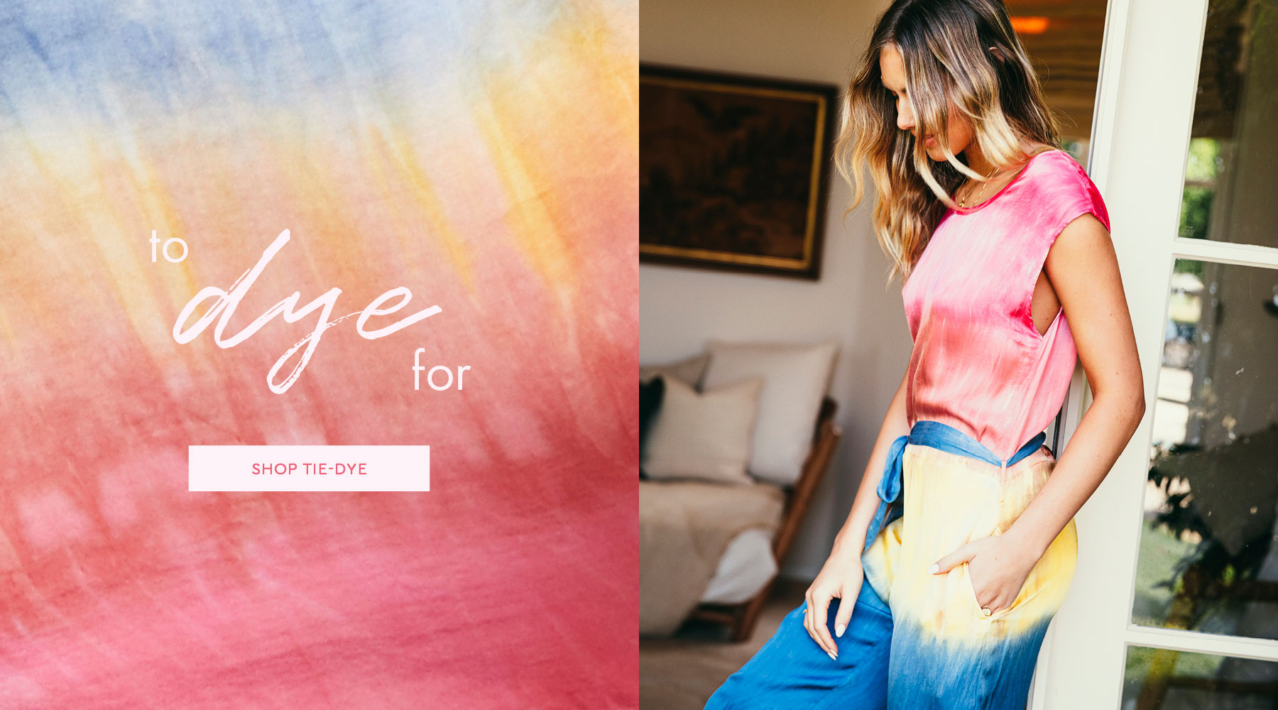 Happy hippie vibes are here. ✌️ See why we're loving tie-dye this summer