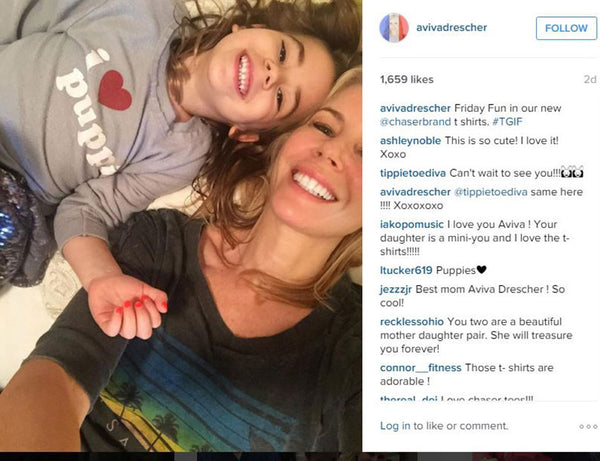 Aviva Drescher and Daughter in Chaser Brand