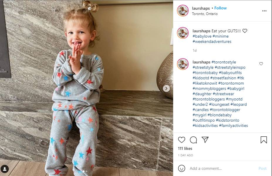 Blogger Lauryn Emily dresses daughter up in Chaser Kids Starry Bolts Set